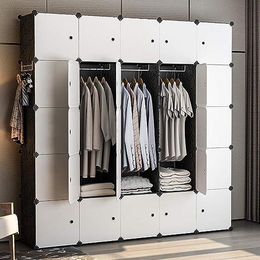 Wardrobe Closets For Kids Bedroom Portable 20 Cube Organizer Clothes Garment