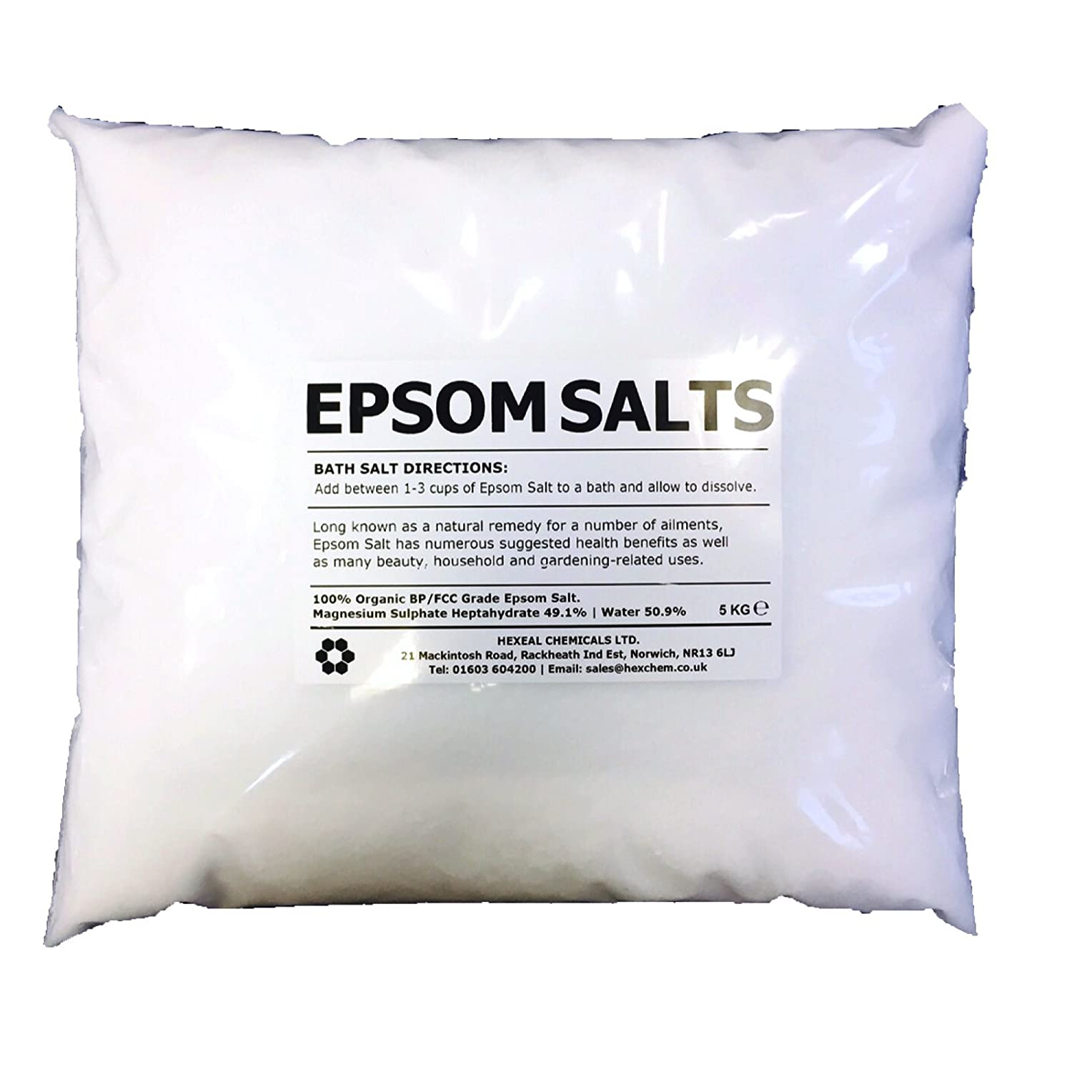EPSOM SALT | 15KG BAG | 100% Natural | FCC Food Grade | Magnesium Sulphate Kali-GmbH