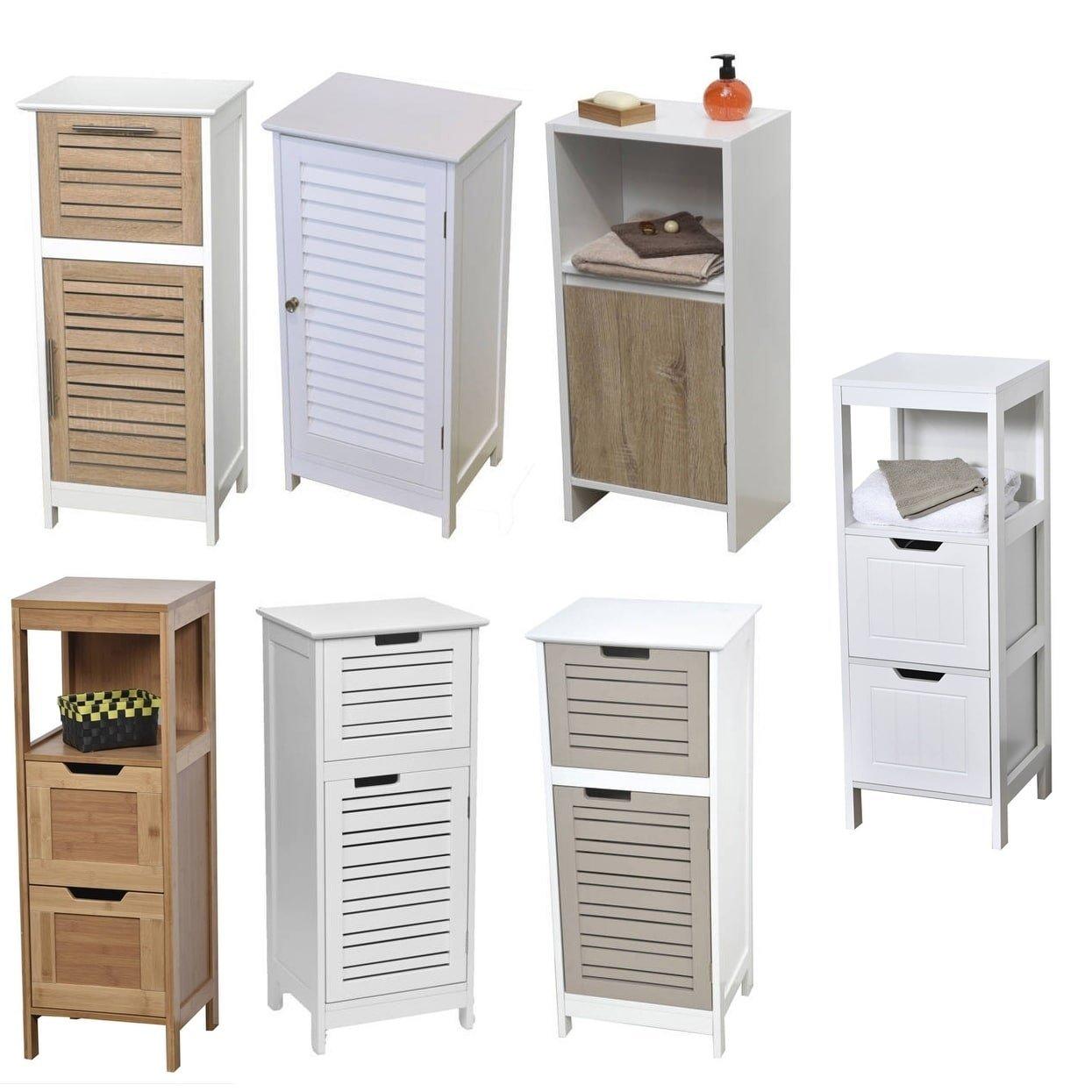 Colonne Salle De Bain Slim ~ tendance colonne meuble bas de salle de bain 1 porte et 1 tiroir