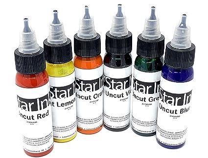 Star Tinta - Set Colores 05 ,6x30ml sin Cortes - Alemán Premium ...