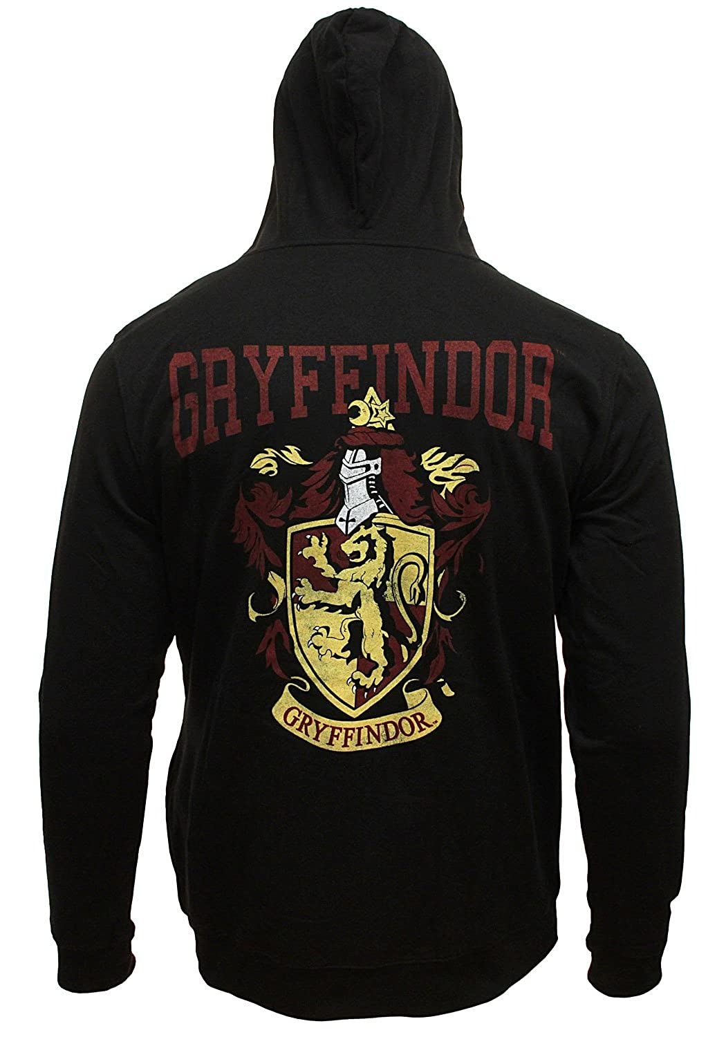 Harry Potter Men's Distressed House Crest Licensed Full Zip Hoodie Sweatshirt