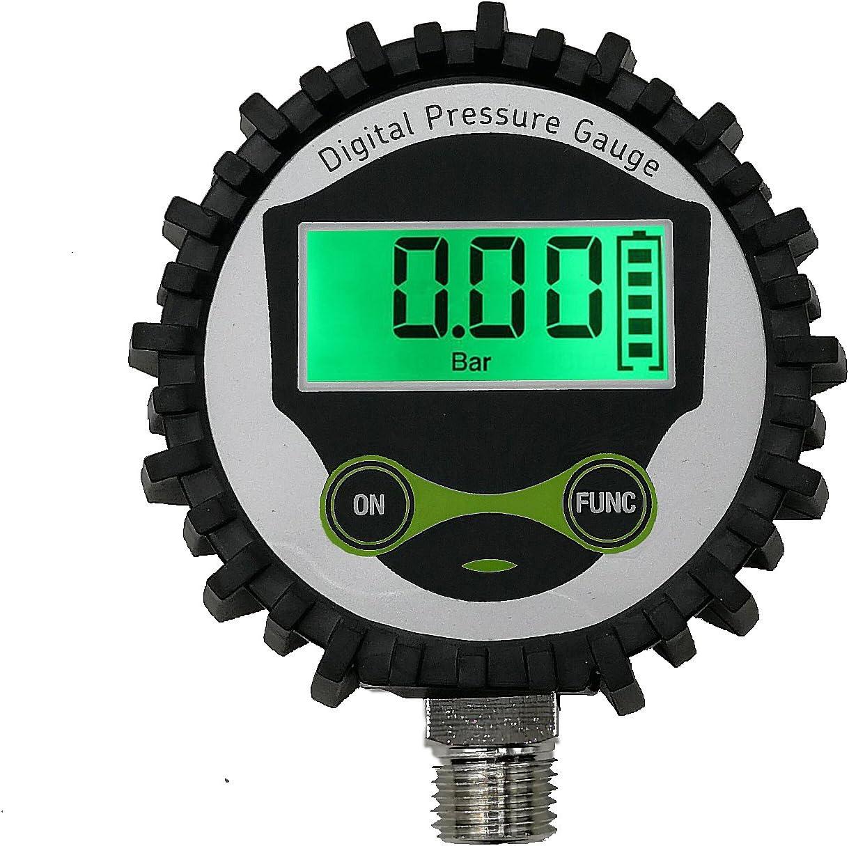 Digital Gas Manometer Mit 1 4 Npt Anschlus Unten Und Gummi Protecter Von Uharbour 0 200 Psi Genauigkeit 1 F S Baumarkt
