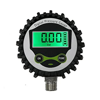 0-60 psi Digital Low Pressure Gauge with 1//4 NPT Bottom Connector and Rubber Protector by Uharbour Accuracy 1/% .F.S.