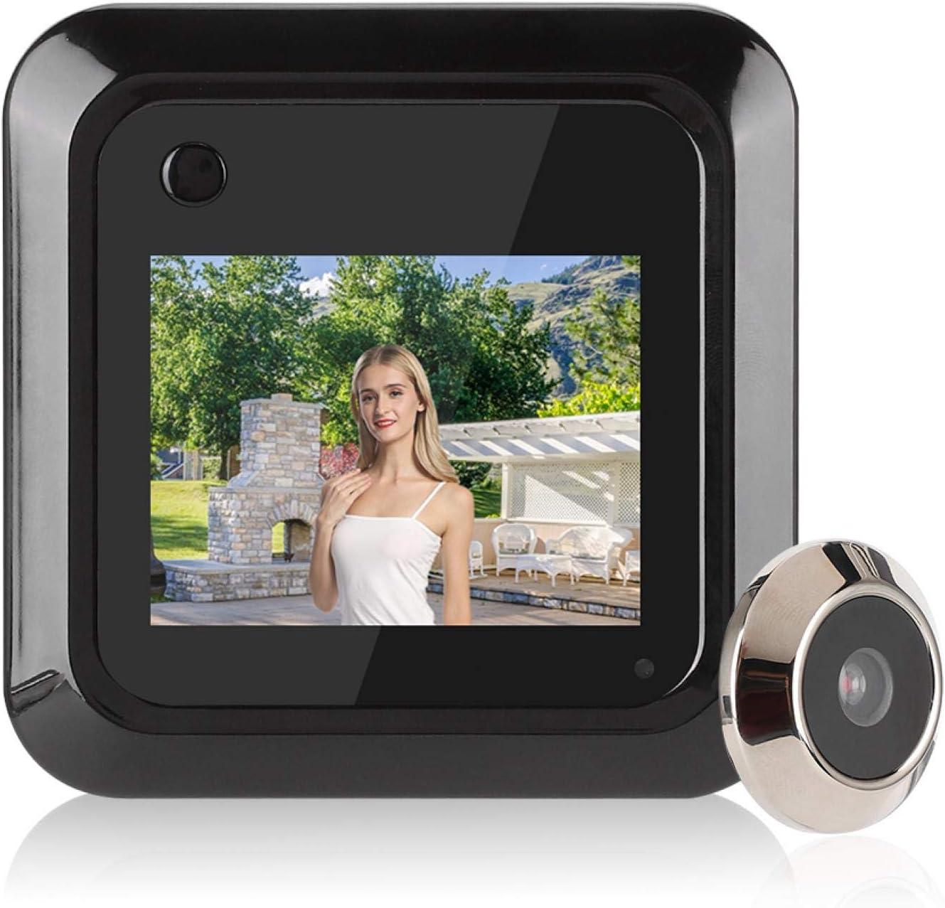 Cámara de Mirilla de Puerta, cámara de Puerta, Puerta de Entrada de apartamento de Puerta Principal LCD HD de 2.4 Pulgadas para el hogar