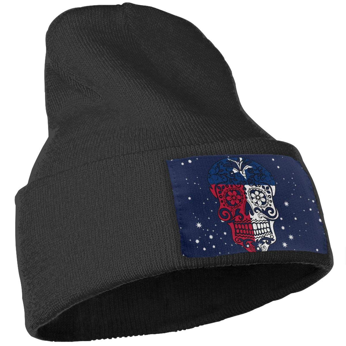 Sugar Skulls Texas Flag Ski Cap Men Women Knitting Hats Stretchy /& Soft Beanie