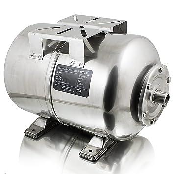 BITUXX® Edelstahl Membrankessel 24L Druckkessel Hauswasserwerk ...