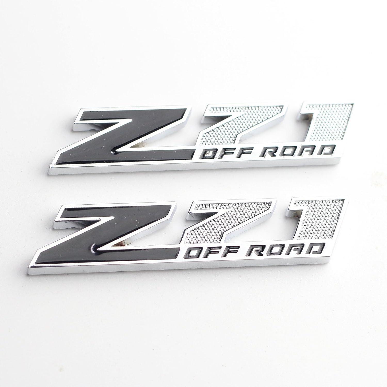 Black//Red 2x Z71 OFF Road Emblems Badge 3D for GMC Chevy Silverado 1500 2500 Sierra