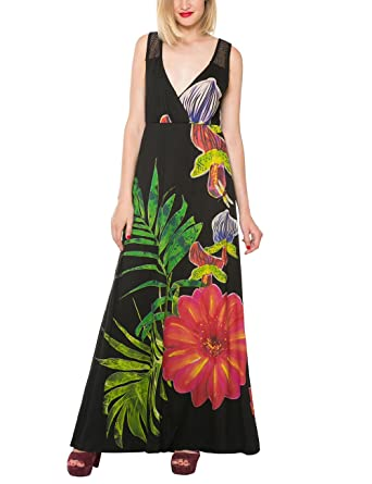 Desigual Womens Knitted Sleeveless Dress, Black, X-Small