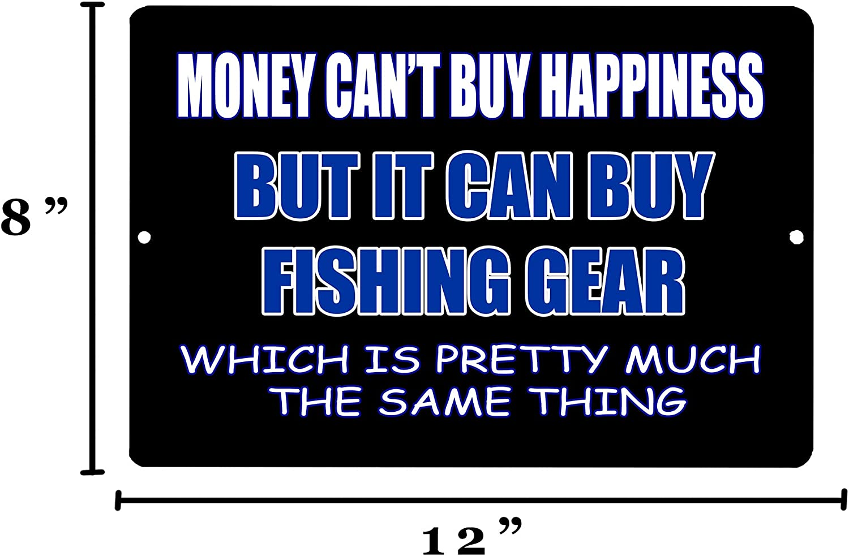 Rogue River Tactical Funny Fishing Metal Tin Sign Wall Decor Man Cave Bar Money Cant Buy Happines Fishing Gear