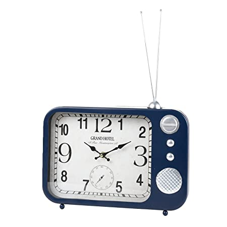 Reloj De Pared & Reloj de mesa Metal Vintage Radio Diseño, color ...