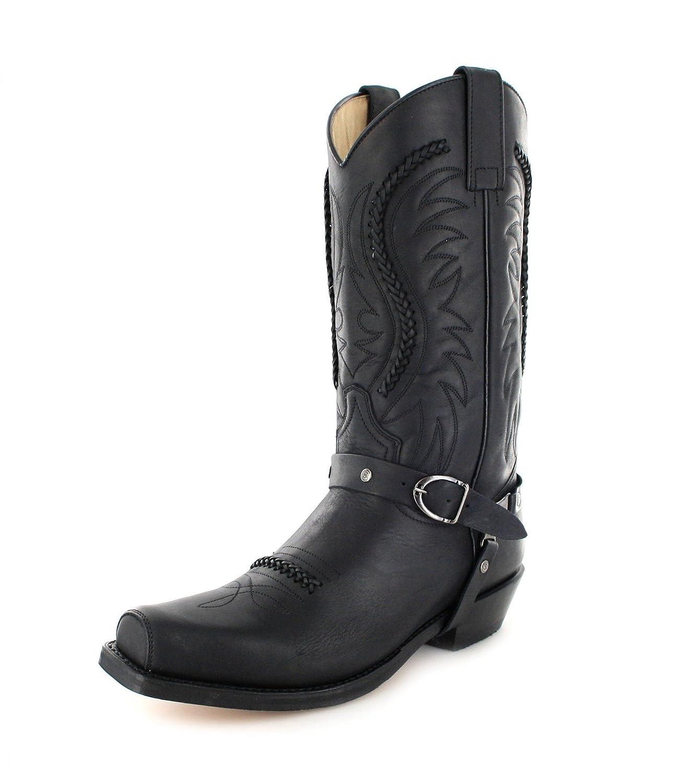 Sendra Boots Damen Herren Biker Stiefel Schwarz 3434 Negro Bikerstiefel ScHwarz Schwarz Stiefel 1260c9