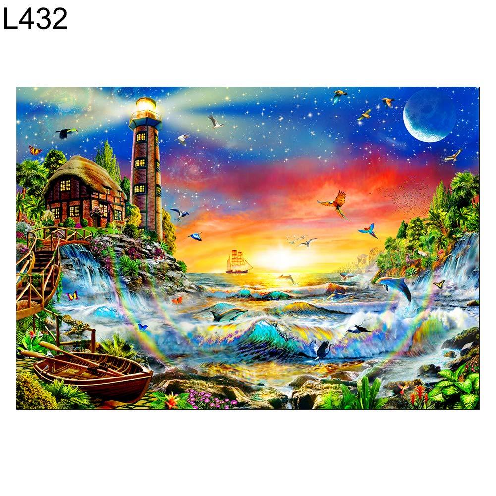 Gmgqsago 40 x 30 cm bellissimo paesaggio DIY 5D Full Diamond Cross Stitch pittura murale Decor –  L432 L432
