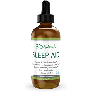 Melatonin Liquid Sleep Aid Drops – 100% Natural Sleeping Supplement with Inositol, B6 &