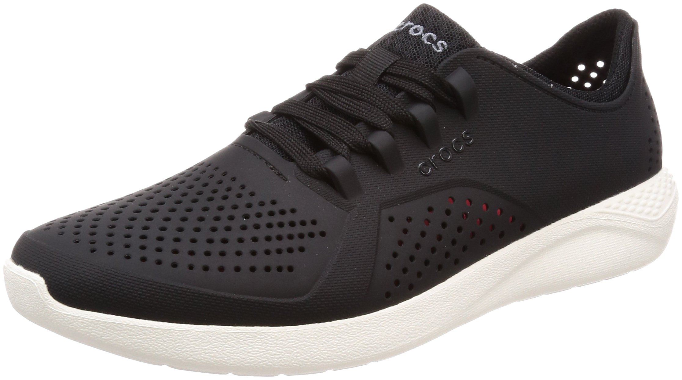Crocs Men's LtRdPacerM, Black/White, 4 M US