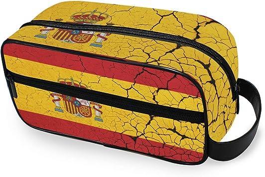 Bandera de España Abstracto Portátil Bolsa de Maquillaje Neceser para Mujer Chica Multifunción Viaje Neceser Bolsa Bolsa de Lona Bolsa de Almacenamiento: Amazon.es: Equipaje