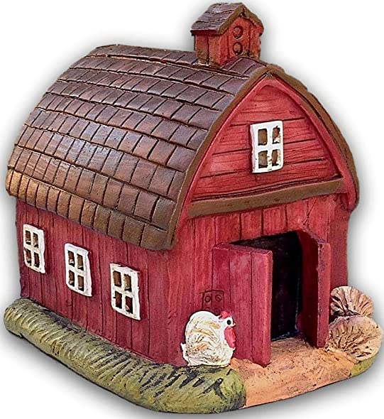 My Fairy Gardens Miniature – Mini Red FARM Barn House – Mini Dollhouse Supply Expressions