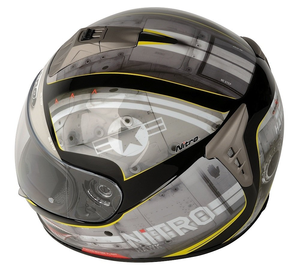 Amazon.es: Nitro 108915S11 NGFP HAWK Casco Moto, Color Gris y Negro, Talla S
