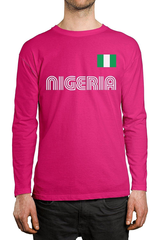 SpiritForged Apparel Nigeria Soccer Jersey Men s Long Sleeve Shirt ... 843ac6d48