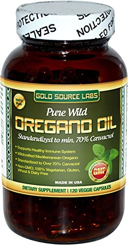 Wild Oregano Oil Capsules – 120 Liquid Veggie Softgels – Pure Standardized Wild Oregano Leaf Extract Offers 32 mg of Carvacrol for Immune System Health – Non GMO, Vegan, Gluten Free