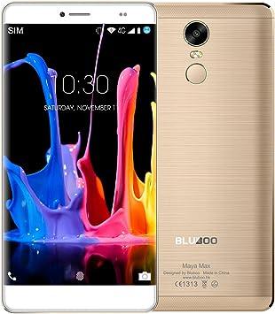 BLUBOO® Maya MAX 4G Smartphone Android 6.0 6.0 Inch HD MTK6750 Ocho Núcleos 1.5 GHz, 3GB RAM 32GB ROM, Lector de Huella Digital, 13.0MP + 8.0MP Cámara Interna y 4200mAh Batería [Oro]: Amazon.es: Electrónica