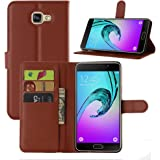 Taslar(TM) Samsung Galaxy A9 Pro (2016) Leather Wallet Magnetic Clip Stand Flip Back Cover Case For Samsung Galaxy A9 Pro - Brown