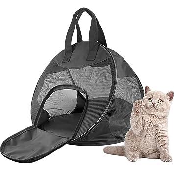 Texsens mascotas bolsa Gato Bolsa de transporte plegable caja de transporte transpirable Perros portátil de viaje de Camp Perros Box para perros gatos: ...
