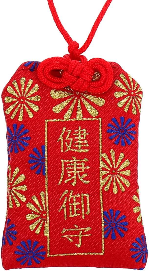 Colgante japon/és Wakauto Omamori color rojo amuleto de la suerte para una buena salud