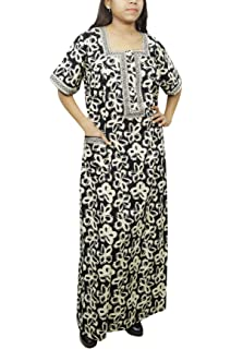Indiatrendzs Women Maxi Nighty Floral Printed House Wear Nightgown ... c531215e5