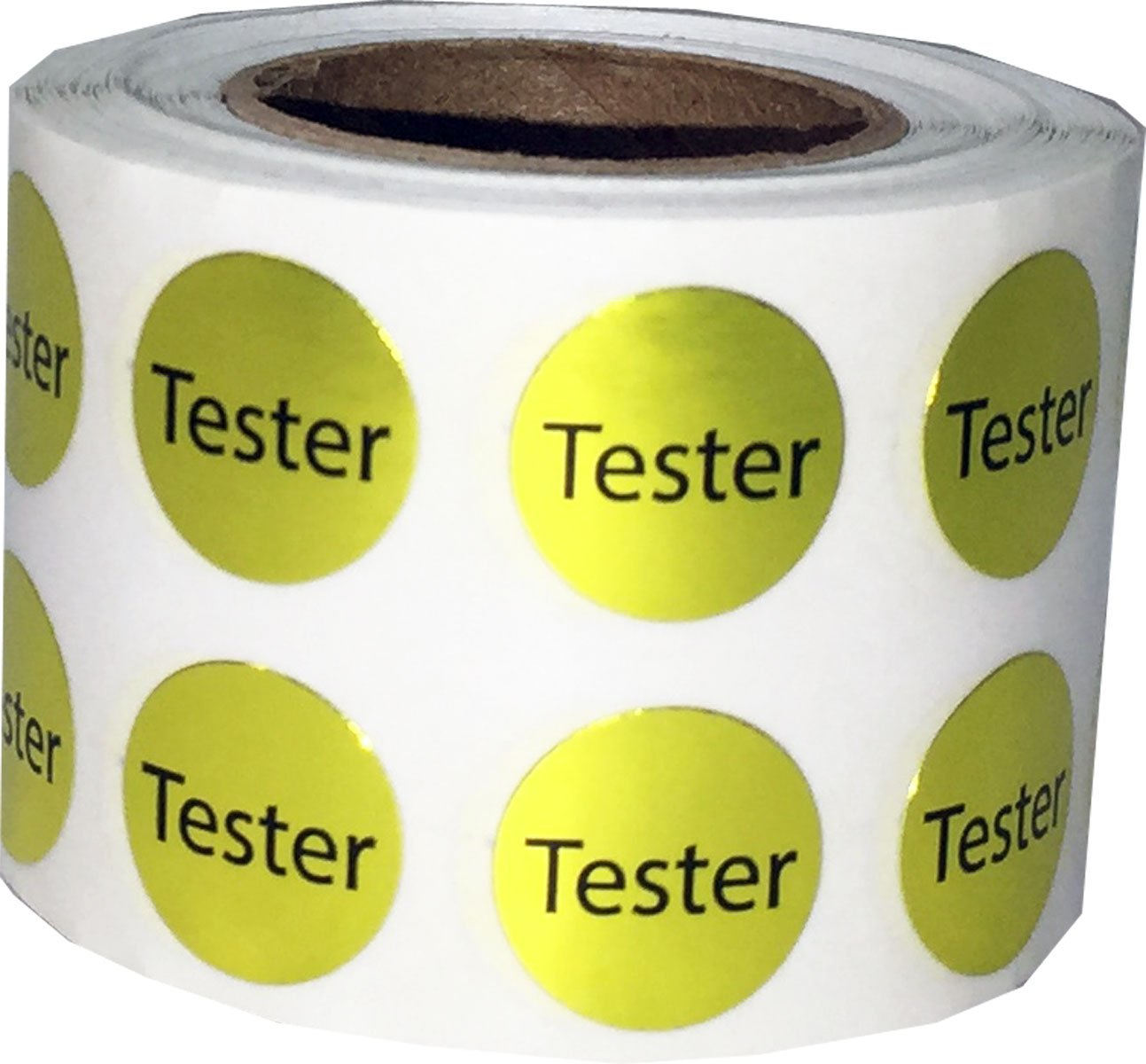 White Try Me Stickers, 13 mm 1/2 Inch Round, 1000 Labels on a Roll InStockLabels.com