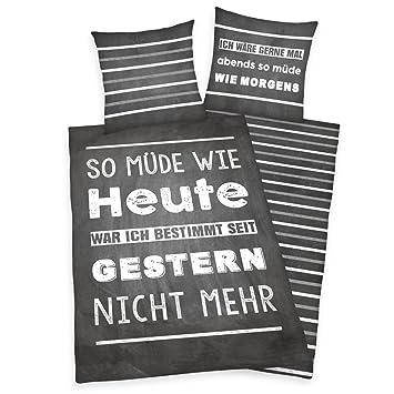 Herding Young Collection Bettwäsche Set Wendemotiv Mit Spruch