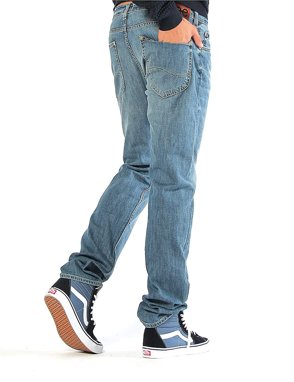 Jeans bleu Label de Lee Powell Low Slim Hommes Bleu L704ABLT, Size:W28/L34