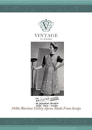 Vintage Visage 1940s Wrap Over Schürze Nähen Papier, Muster-, volle ...