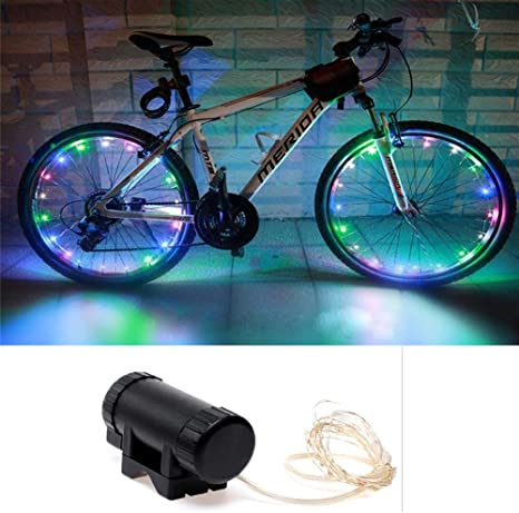 LED luces ruedas bicicleta, impermeable 20 LED 2 modos Flash para ...
