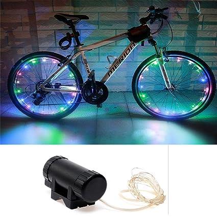LED luces ruedas bicicleta, impermeable 20 LED 2 modos Flash para Bicicleta La Guía Nocturna
