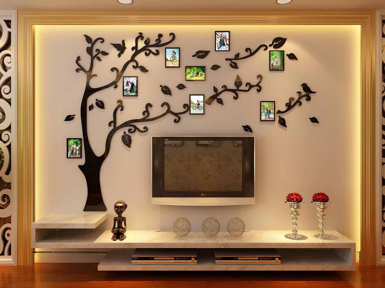 3d Picture Frames Tree Wall Murals for Living Room Bedroom Sofa Backdrop Tv Wall Background, Originality Stickers, Wall Decor Decal Sticker (70(H) x 98(W) inches) by DecorSmart (Image #5)