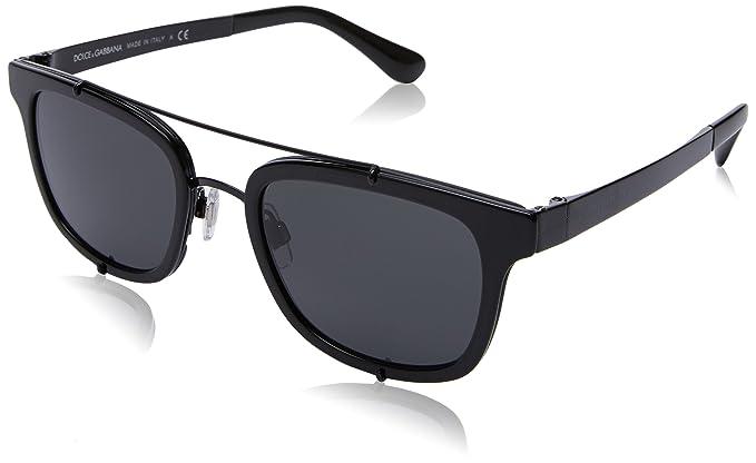 425d87a9a37 Amazon.com  Dolce   Gabbana Men s DG2175 Black Grey One Size  Dolce ...