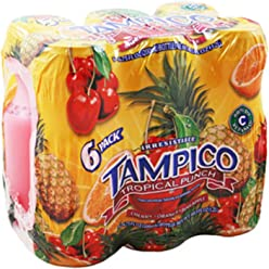 (Pack of 8, 48Ct) Tampico Punch Tropical Punch