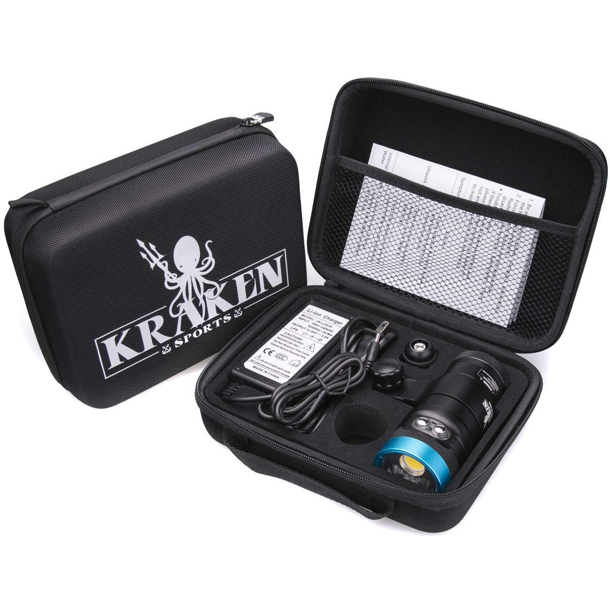 Kraken Sports Hydra 3500S+ Video Light WideSpotRedUVStrobe by Kraken Sports