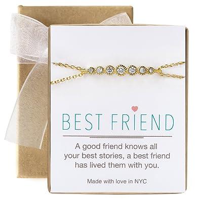 0cf5b3df7 Amazon.com: AMY O Best Friend Friendship Bracelet Gift in Gold, Rose ...