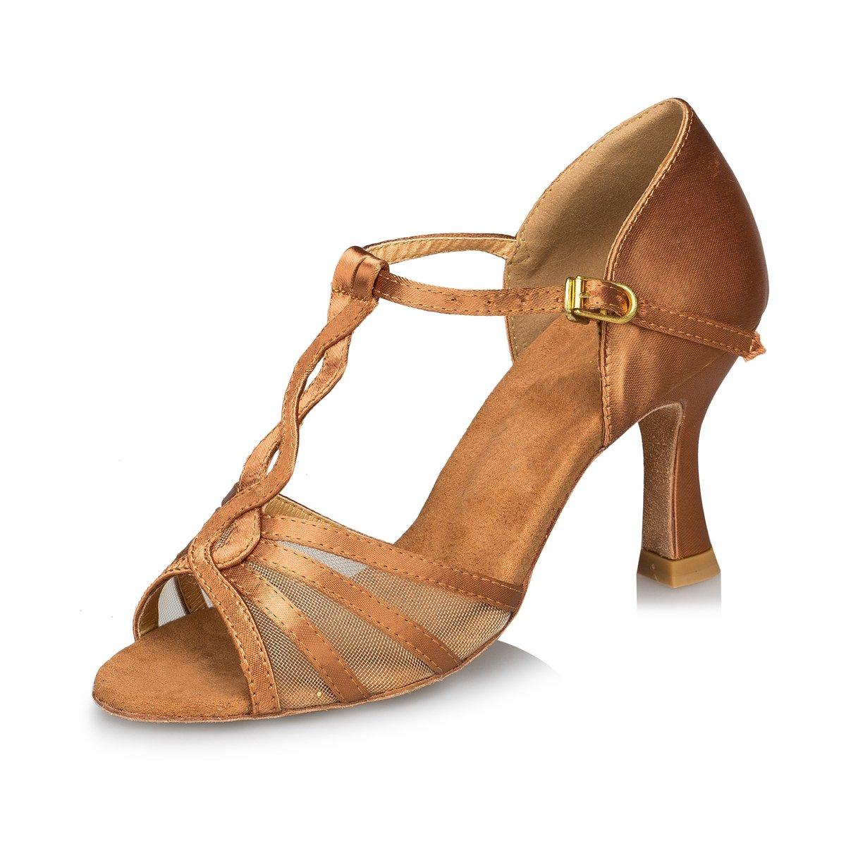 Minitoo , Danse de de Salon femme B071VFNZK2 Brown-7.5cm femme Heel 04597f1 - gis9ma7le.space