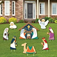 Big Dot of Happiness Holy Nativity - Yard Sign and Outdoor Lawn Decorations - Manger Scene Religious Christmas Signs…