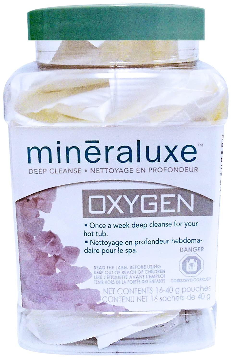 Mineraluxe Oxygen ( 5 , 16 or 96 size pre-measured 40g sachets ) (16, container of 16 ( 40 gr ) packets) west backyard brand