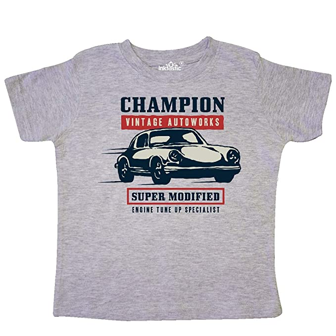 443bd2870 inktastic - Classic Racing Champion Toddler T-Shirt 2T Heather Grey 339d5
