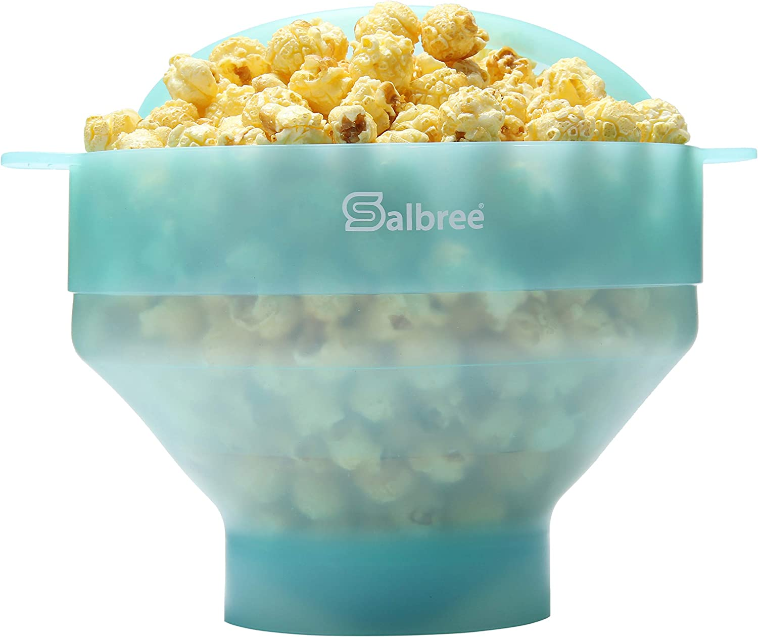 Original Salbree Microwave Popcorn Popper, Silicone Popcorn Maker, Collapsible Bowl BPA Free - 18 Colors Available (Transparent Mint)