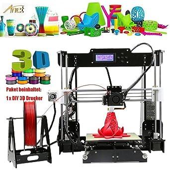 Kit de Impresora 3D A8, LCD, Prusa, ABS, Filamento PLA, Acrílico ...