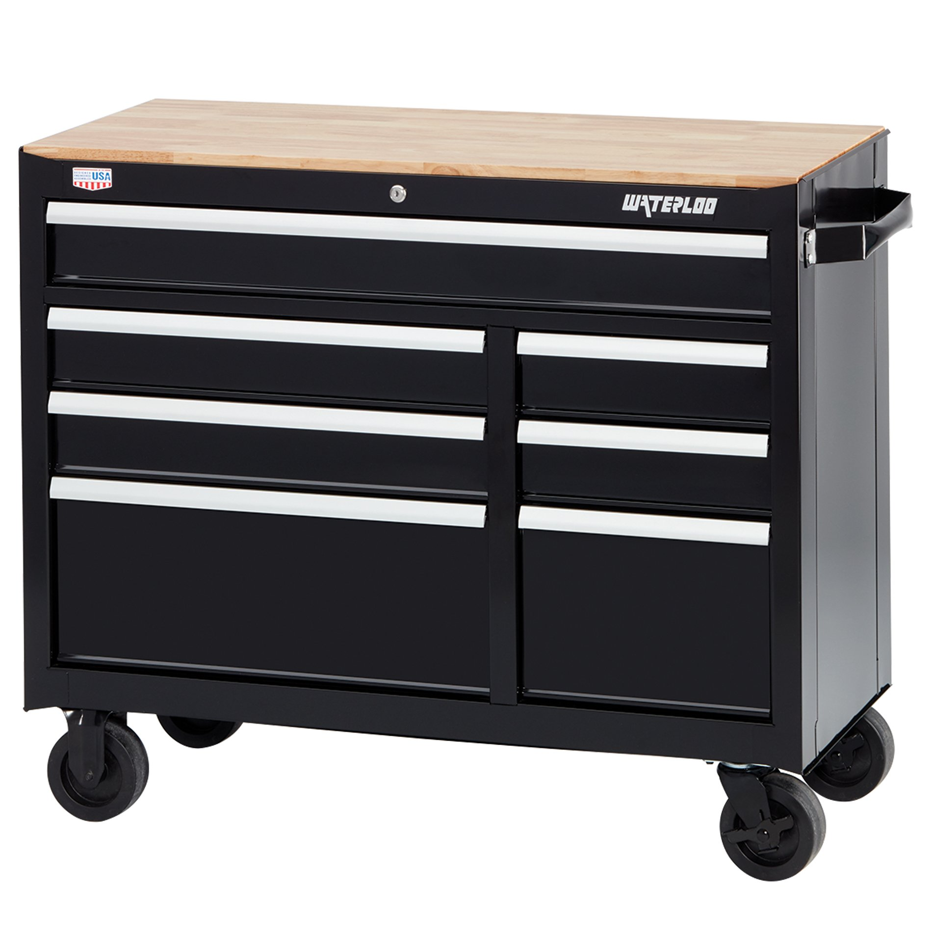 Waterloo R3W-417B W300 Series 7-Drawer Mobile Workbench with Butcher Block Work Surface, 41'' by Waterloo (Image #1)