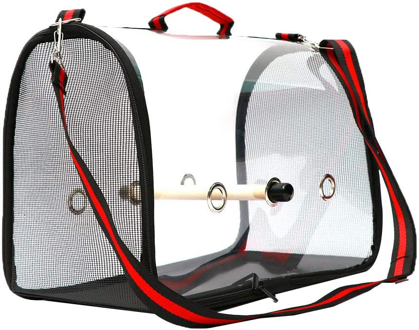 mnoMINI Bird Carrier Cage Gift for Pets Portable Lightweight Bird Carrier Cage Transparent Breathable Parrots Travel Bag