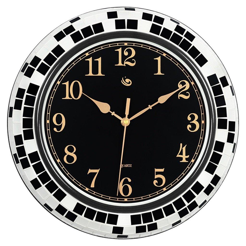 アートクリエイティブサイレントウォッチモダンミニマルデコレーションクロックヨーロピアンスタイルのリビングルームAtmospheric Wall Clock (色 : B) B07DGHNNZ3B