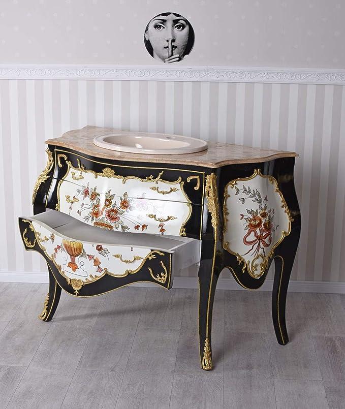 Barock Tisch Bad Möbel Badezimmer Wasch Becken  MkBa0027 antik Stil Massivholz.