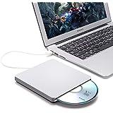 BESTRUNNER Masterizzatore DVD Esterno USB 3.0 CD/DVD-RW Portatile Unità Ottica Esterna di Scrittura Lettore Burner Drive per PC/ Desktop/ Laptop/ Windows XP /Win7/ Win8 Nero